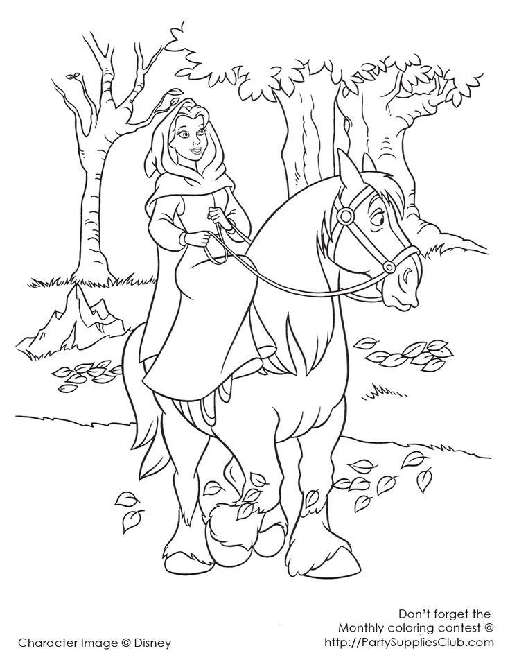 41 best Beauty and the Beast Disney Coloring Pages images on