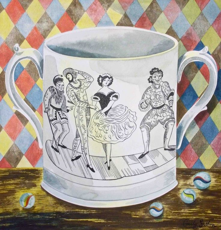 "From the ""Victorian Crockery"" series by Emily Sutton (watercolour)"
