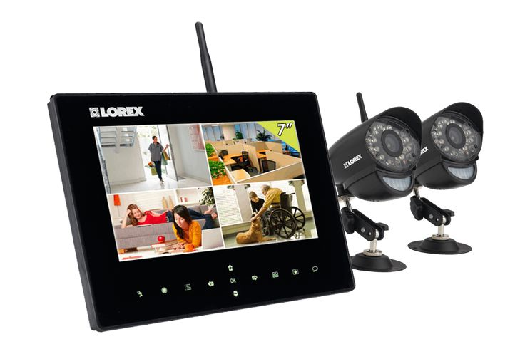 Wireless home camera system for video monitoring system with picture frame monitor and SD recorder