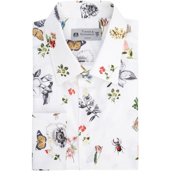 Turner & Sanderson Hague Tailored Fit Floral Printed Shirt ($99) ❤ liked on Polyvore featuring men's fashion, men's clothing, men's shirts, men's dress shirts, men shirts formal shirts, mens formal dress shirts, mens french cuff shirts, men's flower print shirt, mens floral dress shirts and mens formal shirts