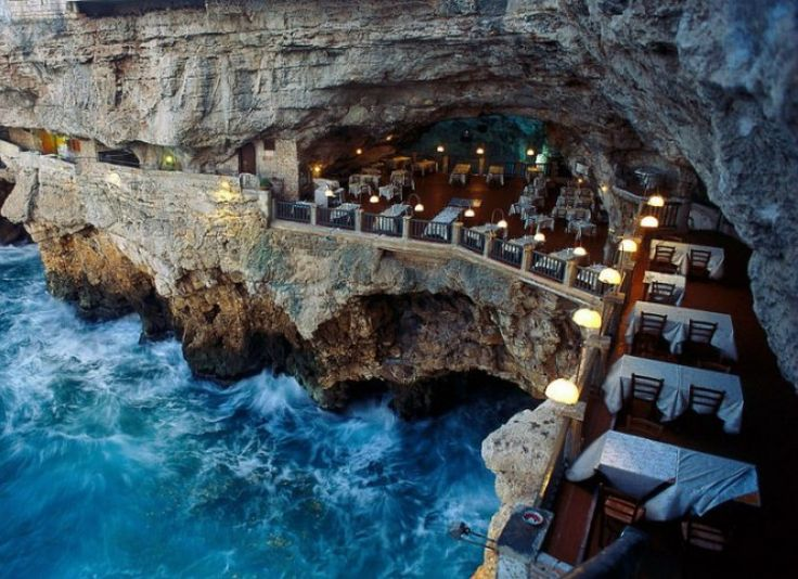13 Amazing Places Tourists Don't Know About - brainjet.com Ristorante Grotta Palazzese, Italy This unique restaurant is one of the best places to eat in the world. Carved into the side of a limestone cliff in Southern Italy, this enchanting restaurant offers its diners amazing views of the Adriatic Sea