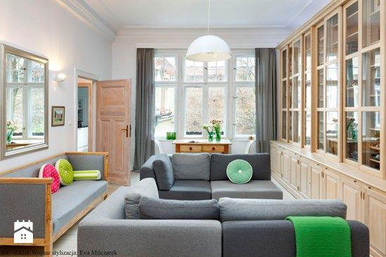 Listwy sufitowe w nowoczesnym salonie