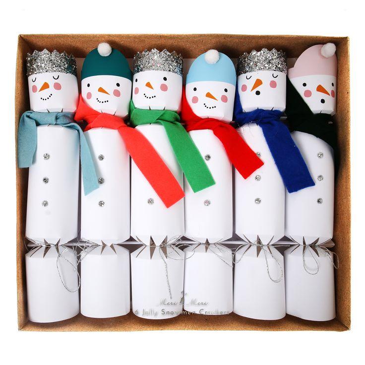Snowman Crackers www.CircoDellaModa.com
