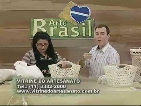 ARTE BRASIL - CARMEM FREIRE - SACOLA DE CROCHÊ ENDURECIDO (26/07/2011) - YouTube