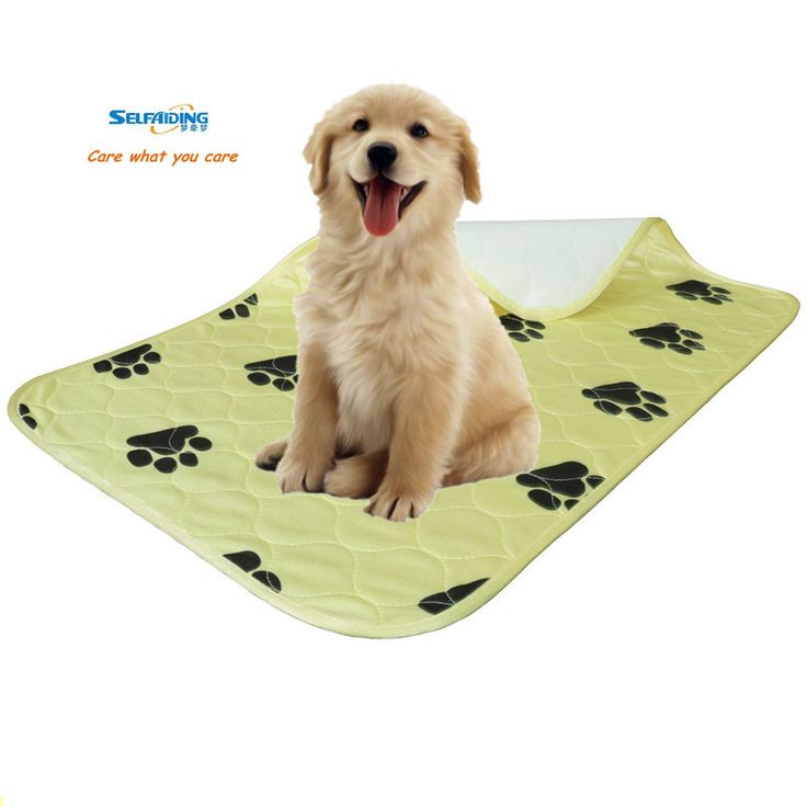 Reusable Dog Mats Urine Pee Pad Washable Puppy Training Pad, Waterproof Puppy Underpad Yellow Pads