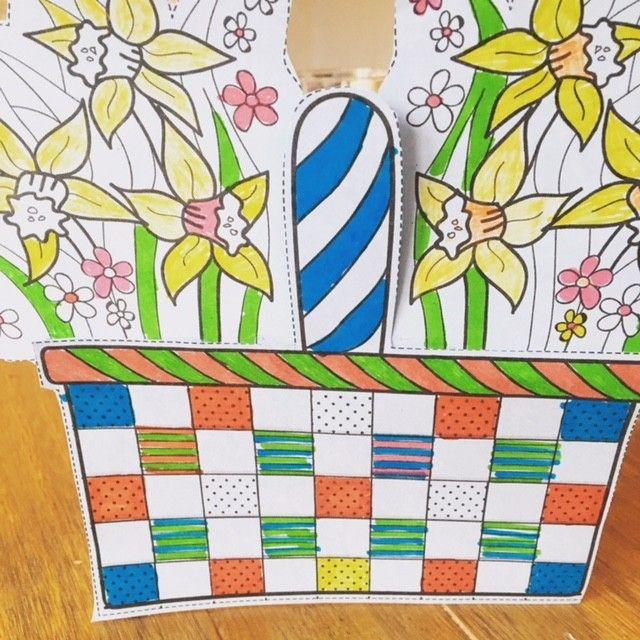 Easter Basket Basket Craft Card Free Easter Card Easter Colouring Easter Basket Craft Easter Basket Activity Easter Basket Crafts Card Craft Basket Crafts