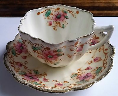 Melba China Hand Finished Vintage Bone China Tea Cup and Saucer