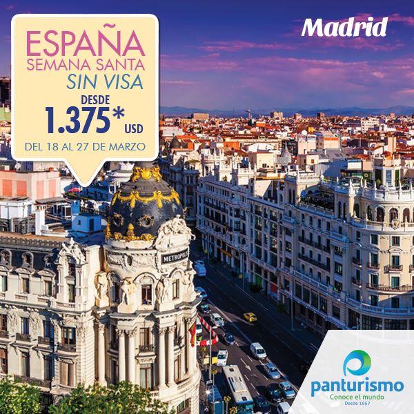 España te espera esta Semana Santa, una país increíble lleno de historia y deliciosa gastronomía. Más información en Cali al 668 2255 y en Bogotá 606 9779. www.panturismo.com