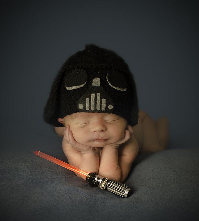 Darth vader newborn photography. Star wars baby. Organic 7d595829727