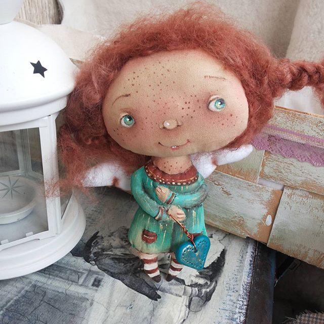Моя ангелочка!!бубочка!!!#авторскаяработа #оленавербець #кукларучнойработы…