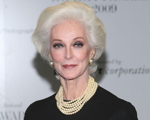 Wow!  This is Carmen Dell'Orifice.  What I wish I could like when I grow up.  Especially if her hair is gathered in an elegant bun, which I expect it is.