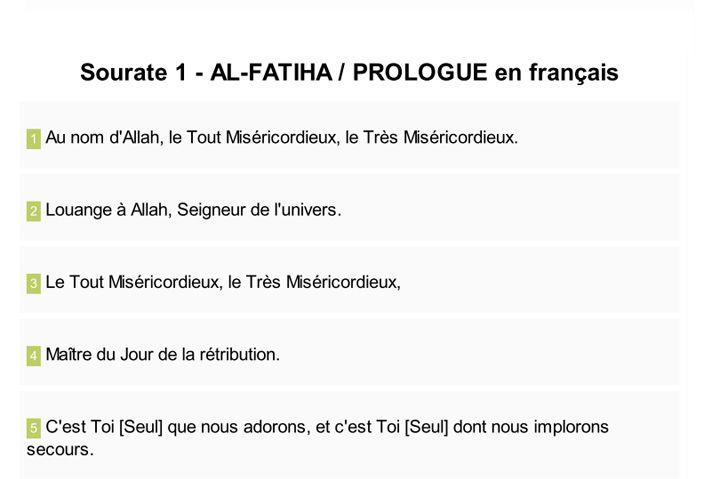 Télécharger le Coran en français en version Texte PDF