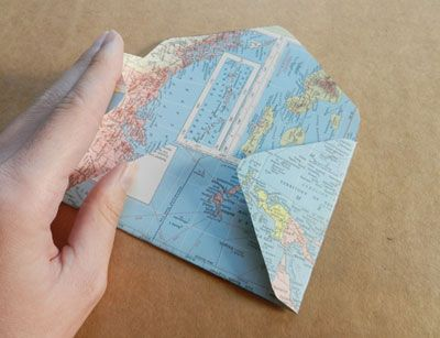 Create a handmade envelope out of an old map or last year's calendar! From MOTHER EARTH NEWS magazine.
