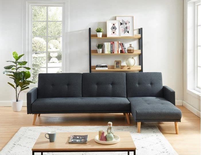 Luxi Canape D Angle Reversible Convertible 4 Places Pas Cher Canape Cdiscount Canape Angle Canape Cdiscount Et Deco Salon Blanc
