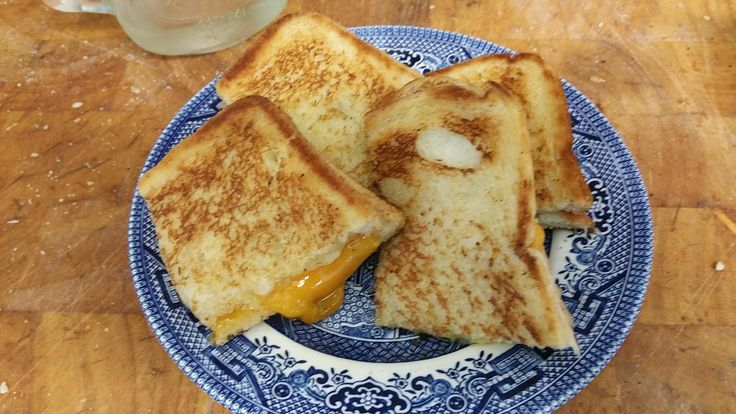 Plain white w/ Cheddar & Red Leicester. Made by 14yo for his 6yo sister. He's making more as I type. #grilledcheese #food #yum #foodporn #cheese #sandwich #recipe #lunch #foodie
