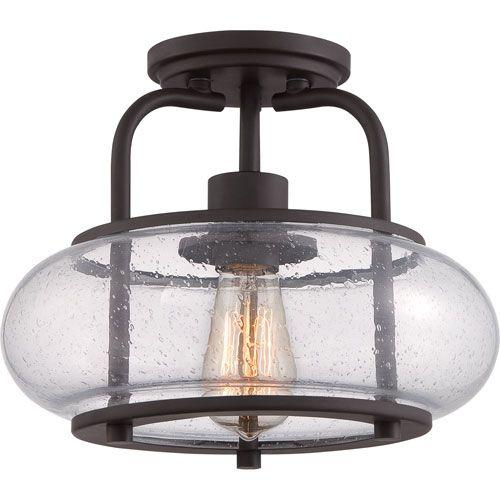 Trilogy Old Bronze One Light Mini Pendant Semi Flush Flush & Semi Flush Lighting Ceiling