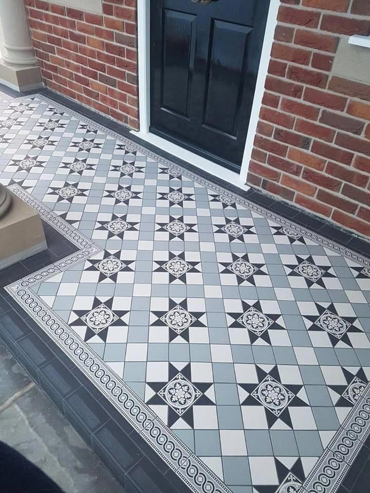 Victorian Floor Tiles Gallery Original Style Floors Period Floors Greyflooringhallway Tile Floor Porch Tile Outdoor Tiles Floor
