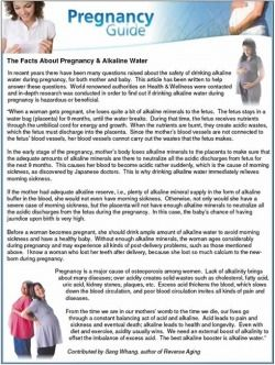 For my pregnant friends...Facts About Pregnancy & Alkaline Water. <----Good info!
