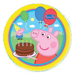 Peppa Pig Large Party Plates (8 pc)