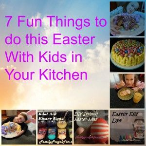 Will you have kids in your kitchen this spring break? Well it's time for some Easter fun! Check out these 7 ideas of fun things to do this Easter with kids in the kitchen! You can make kids Easter treats, make tie dye eggs, or peanut butter eggs!