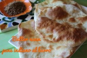 Butter naan/ pane indiano al burro