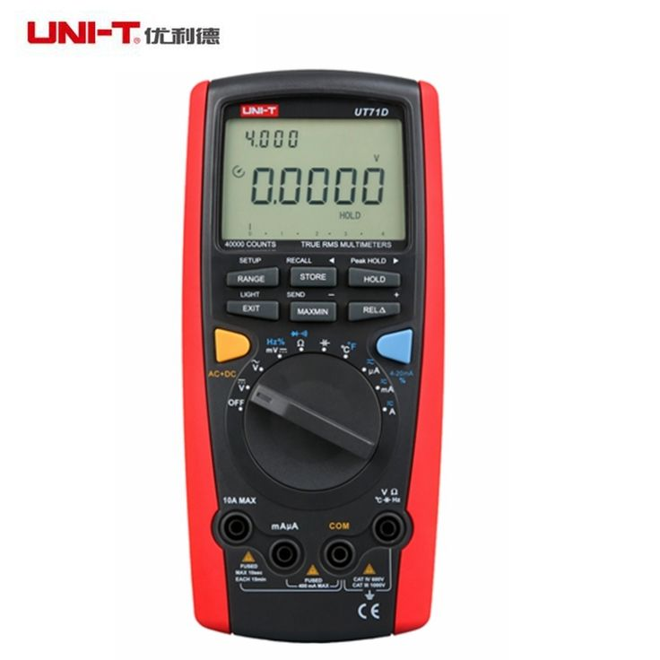 152.56$  Buy now - http://alipvq.worldwells.pw/go.php?t=32595507862 - UNI-T UT71D LCD Digital Multimeter Voltmeter Ammeter Ohm Temp Teater 39999 Count True RMS Auto Range Power Off Data Logging 9999