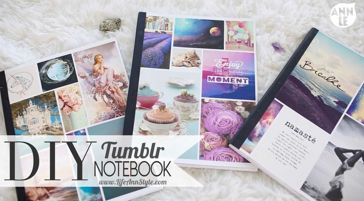 DIY Tumblr Photo Notebook Back To School | ANNEORSHINE How to make a notebook Supplies PVA Glue Paper Card Stock Binder Clip Black Card Stock Paper