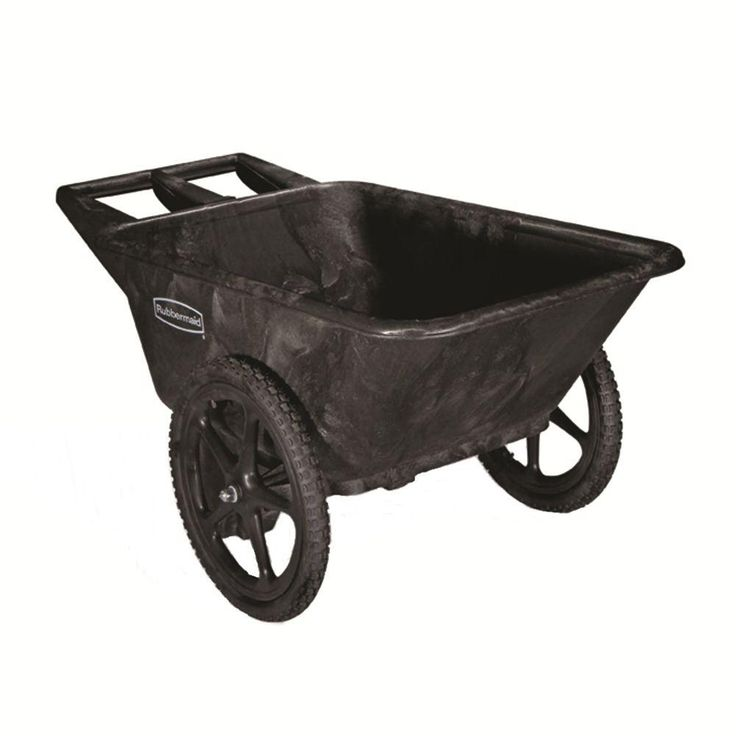 Rubbermaid Commercial Products 7.5 cu. ft. Plastic Yard Cart - $139.00 at The Home Depot | Hands down, this is the best muck cart I've ever used! It can tackle a 14 stall barn in one load and is sturdy enough to cover uneven terrain in even the muddiest conditions.