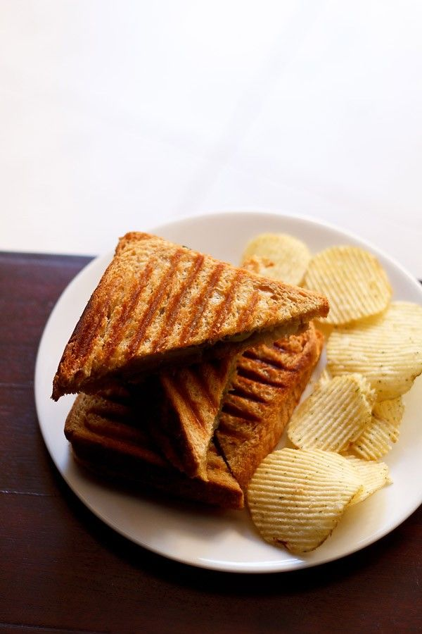 bombay veg grilled sandwich recipe with step by step photos. the recipe is similar to the bombay veg sandwich recipe on the blog. its the grilling that makes the difference