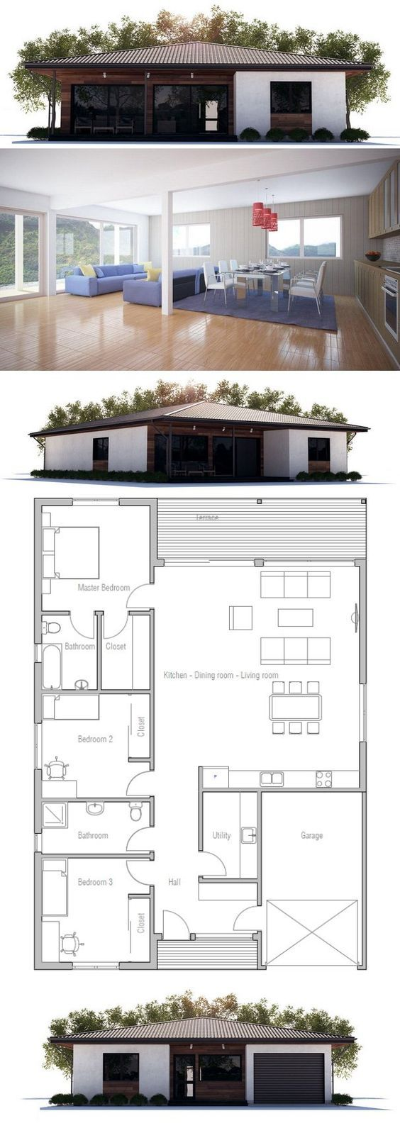 Small House Floor Plan: