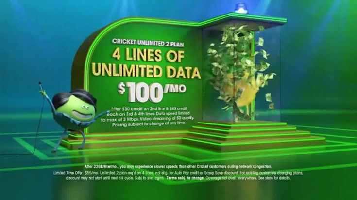 Cricket Wireless invites you to get your win on with its Unlimited 2 Plan. It features four lines of unlimited data for $100 a month and for a limited time, you can get four free LG Fortune smartphones when you switch.