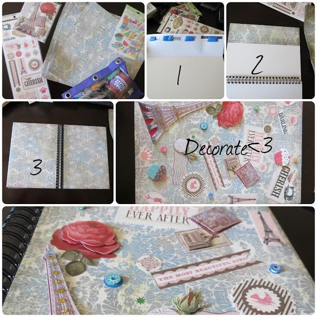 Diy Book Cover Design Ideas : Diy book cover decor scrapbook design craft ideas