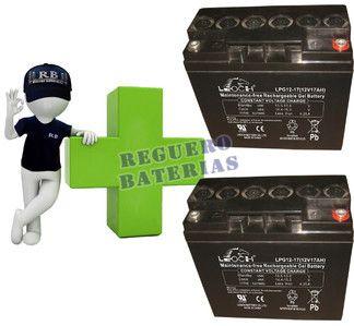 Baterías de GEL para silla de ruedas 12 Voltios 18 Amperios LEOCH LPG12-17