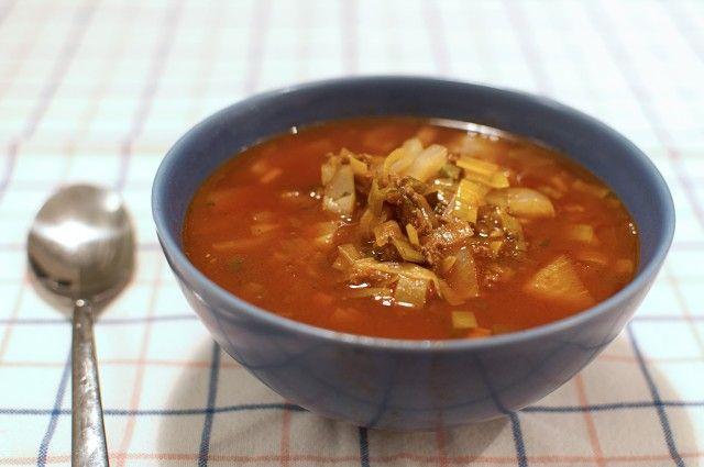 Vardagsmat, soppa med köttfärs och vitkål
