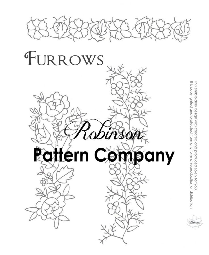Furrows Hand Embroidery pattern