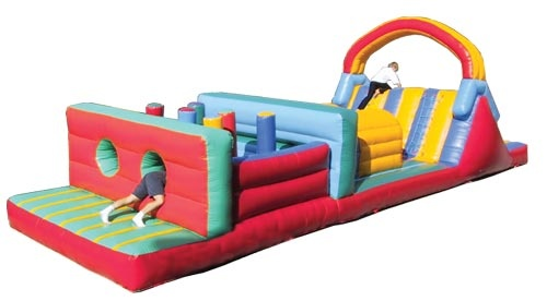 Obstacle course - Doing something like this in a sumo suit would be fun too!