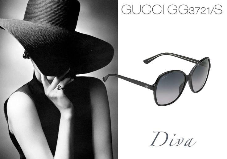 GUCCI GG3721/S per sentirti una #DIVA  #sunglasses #occhialiperlei #likeadiva #occhiali #lentiscure #hiddenbeauty #blacklook