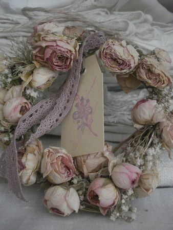 Dried Roses Wreath...Ana Rosa