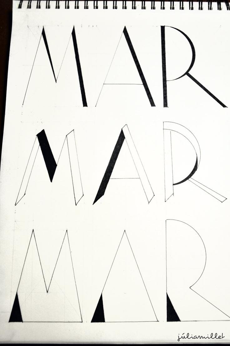 Creacion de tres tipos de letras