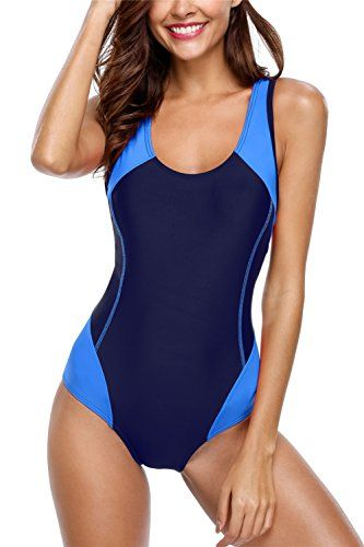 7ce66b791d4 New ALove Racerback Sports One Piece Swimsuit Splice Athletic Bathing Suit  Swimwear online. Find the perfect Diukia Swimsuit from top store.