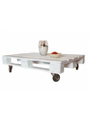 Tavolino da salotto PALLET Idea colore bianco