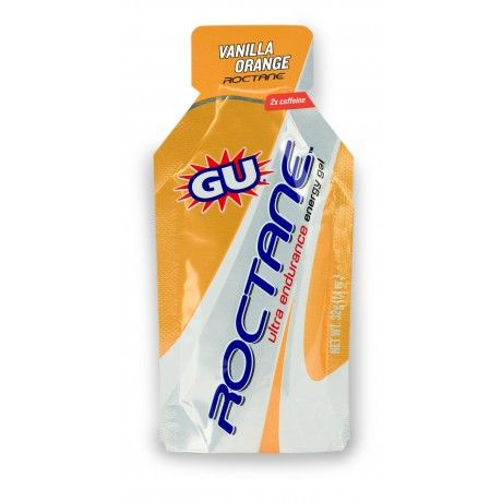 GU Roctane Endurance Gel is a high-performance upgrade to the classic GU Energy Gel which contains a patented mix of amino acids and a bit more caffeine than the original recipe.
