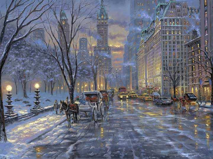 10 best images about victorian winter scenes on pinterest for Christmas images paintings