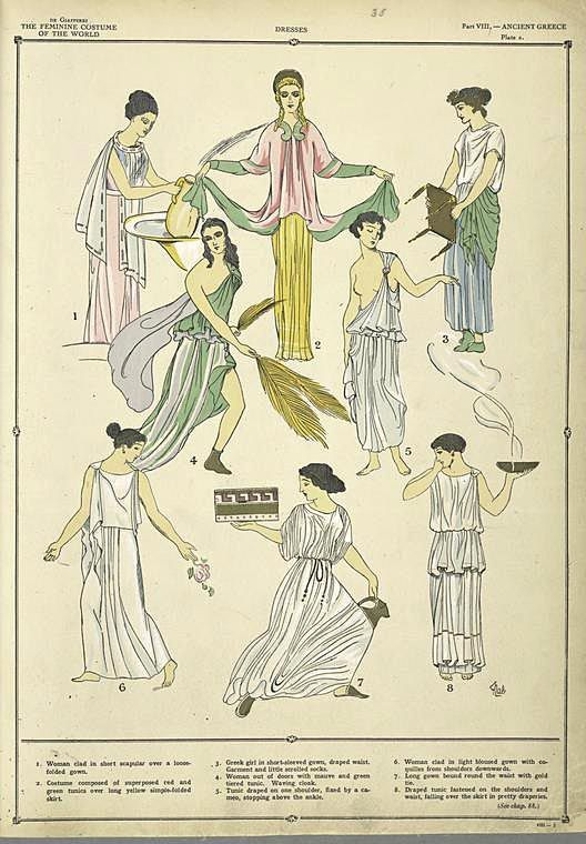 Greek Costume - History of the Feminine Costume of the World, Paul Louis 1920s