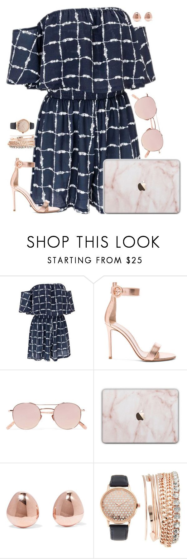 """""""Untitled #1347"""" by kitty-paws04 ❤ liked on Polyvore featuring Gianvito Rossi, Krewe, Monica Vinader and Jessica Carlyle"""