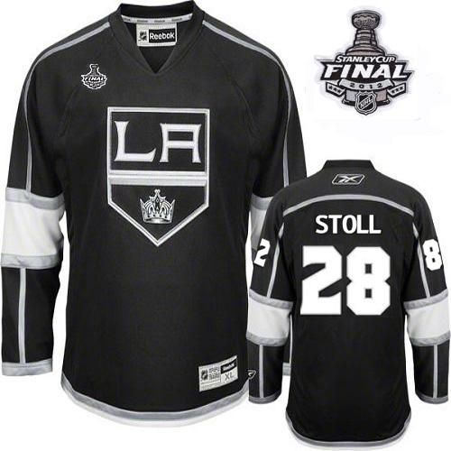 Kings #28 Jarret Stoll Black Home 2012 Stanley Cup Finals Embroidered NHL Jersey @Emillia Kelly