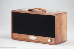 Hand Crafted Powered Bluetooth Speaker  The Durian heartwood has a distinct pink-brown to deep red brown while the sapwood has much lighter white to pale pink-brown appearance.
