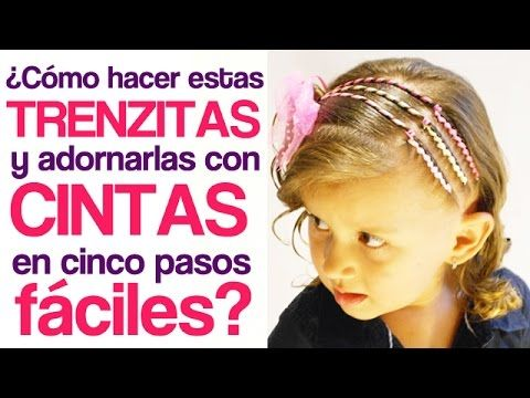 Peinados fáciles para niña | Triple trenza adornada con cintas - hairstyles for girls - YouTube
