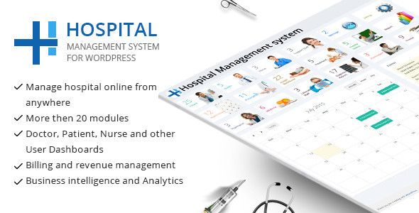 Hospital management system Plugin for wordpress is the best way to manage all hospital operation. It has different rights for Admin, nurse, support staff, doctor and other users.