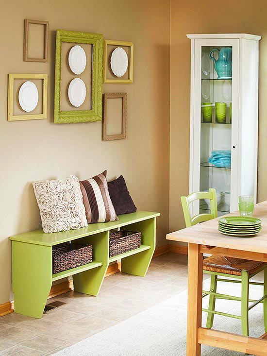a similar bench under kitchen window could offer both seating and storage and take less space than chairs